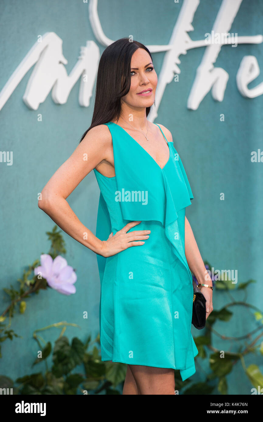 LONDON, ENGLAND - SEPTEMBER 06: Linzi Stoppard attends the 'Mother!' UK premiere at Odeon Leicester Square on September 6, 2017 in London, England. Credit: Gary Mitchell/Alamy Live News - Stock Image