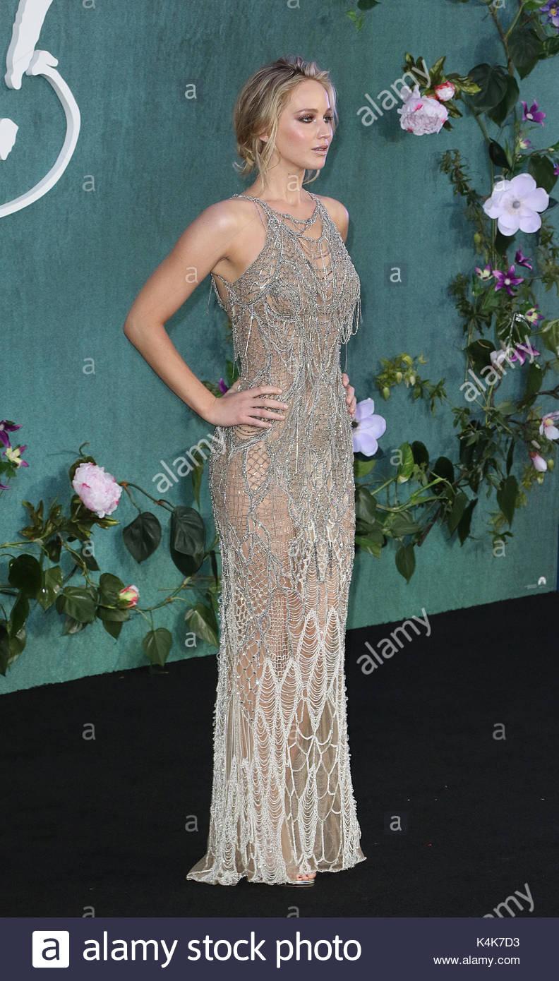 London, UK 6th Sep, 2017 Jennifer Lawrence, Mother! - UK Film Premiere, Leicester Square, London UK, 06 September - Stock Image