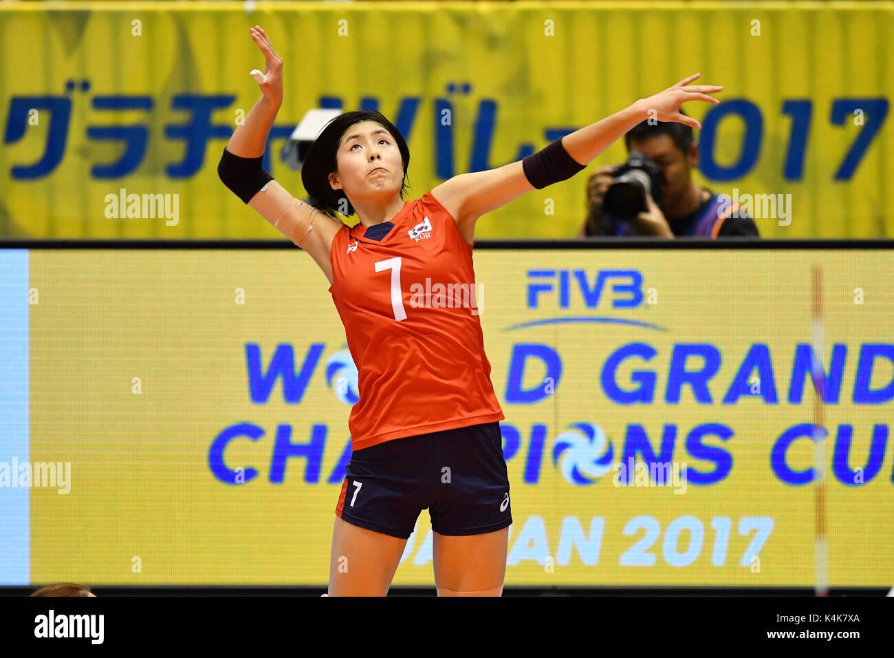 Tokyo, Japan. Credit: MATSUO. 6th Sep, 2017. Lee Jae-Eun (KOR) Volleyball : FIVB World Grand Champions Cup 2017Stock Photo
