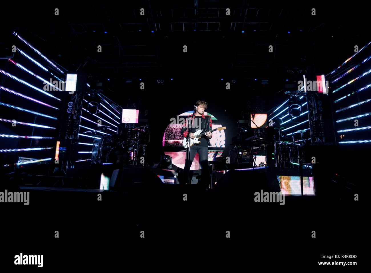 Moncalieri, italy 6th september 2017. The italian band The Kolors performs at 45° nord entertainment center in Moncalieri Credit: Alberto Gandolfo/Alamy Live News - Stock Image
