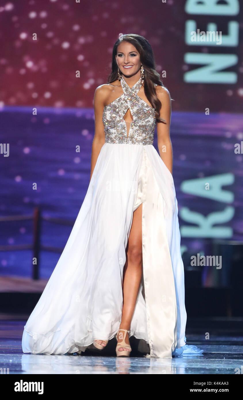 Atlantic City, NJ, USA. 6th Sep, 2017. 06 September 2017 - Atlantic City, NJ- Miss Nebraska Allison Tietjen. 2017 - Stock Image