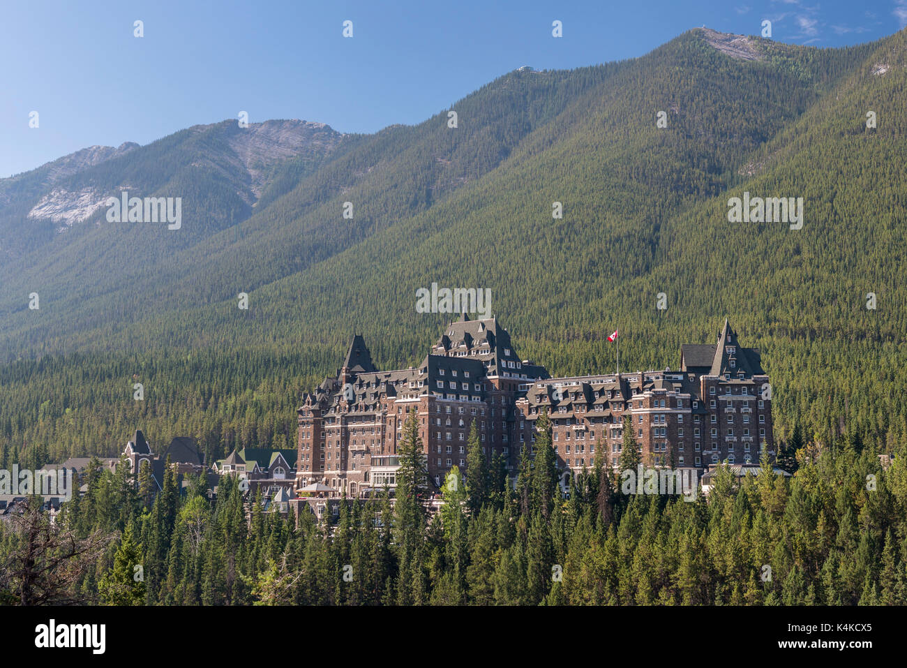 Fairmont Banff Springs Hotel, Banff, Alberta, Canada - Stock Image