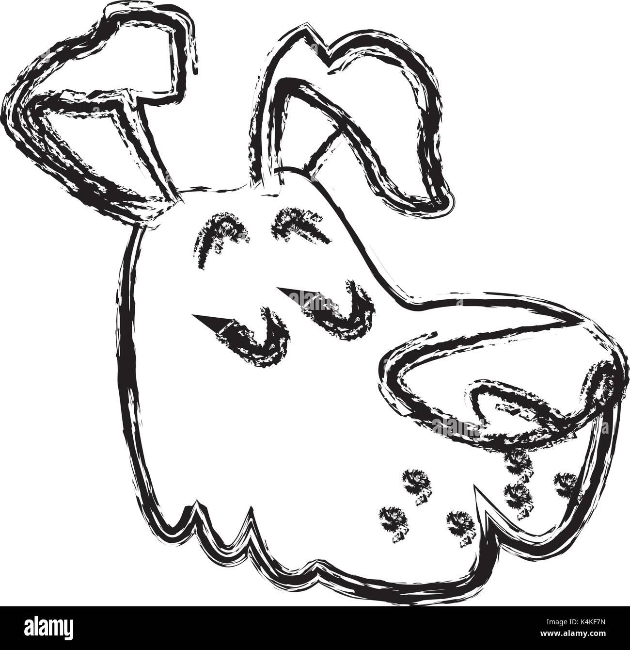 Dog pet cartoon - Stock Image