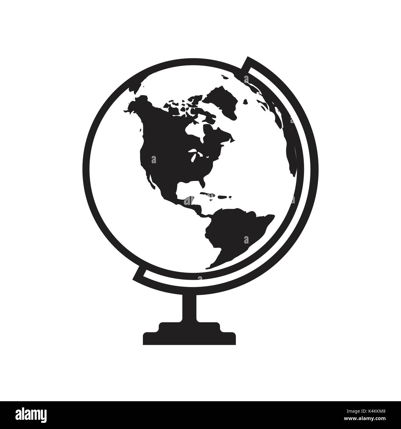 Globe icon vector with america map flat icon isolated on the white globe icon vector with america map flat icon isolated on the white stock vector art illustration vector image 157784488 alamy gumiabroncs Image collections