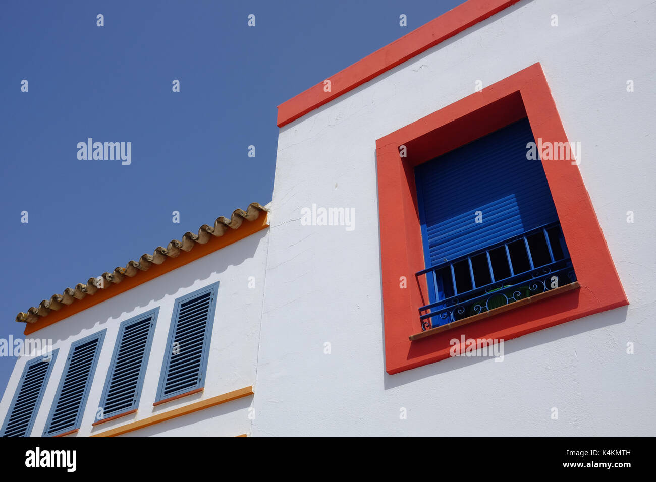 detail of a traditional house in Isla del Moral, Spain - Stock Image