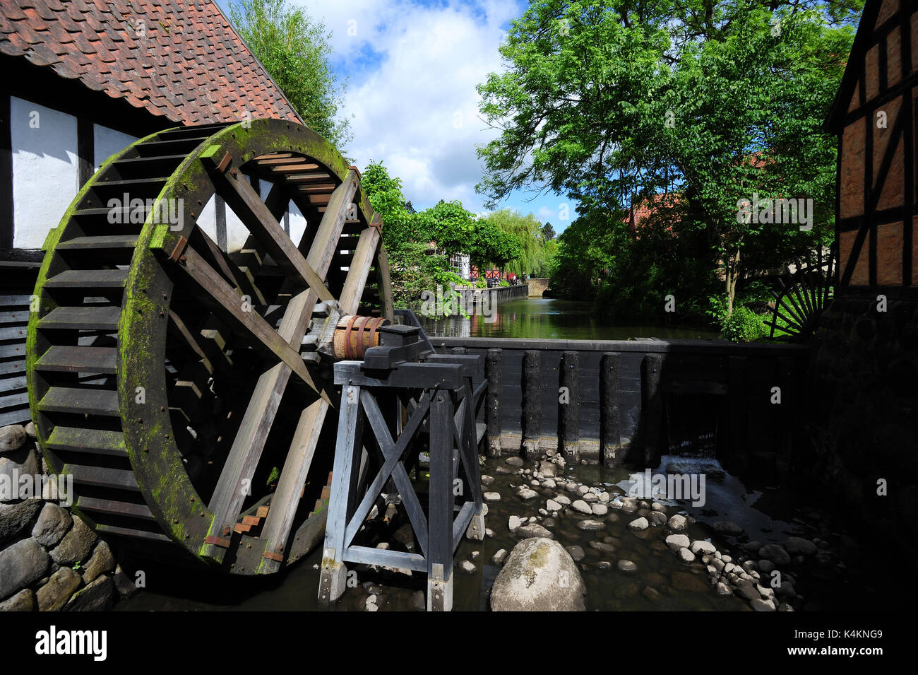 Travel back in time at Den Gamle By (The Old Town), an open-air folk museum in Aarhus, Denmark. Stock Photo