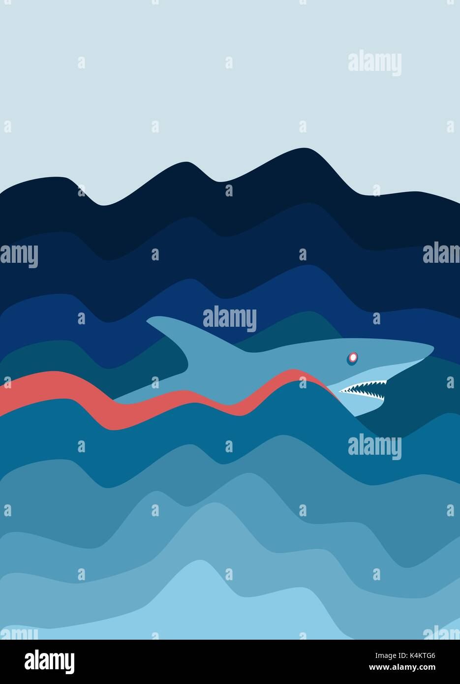 Shark attack. Abstract background. - Stock Vector