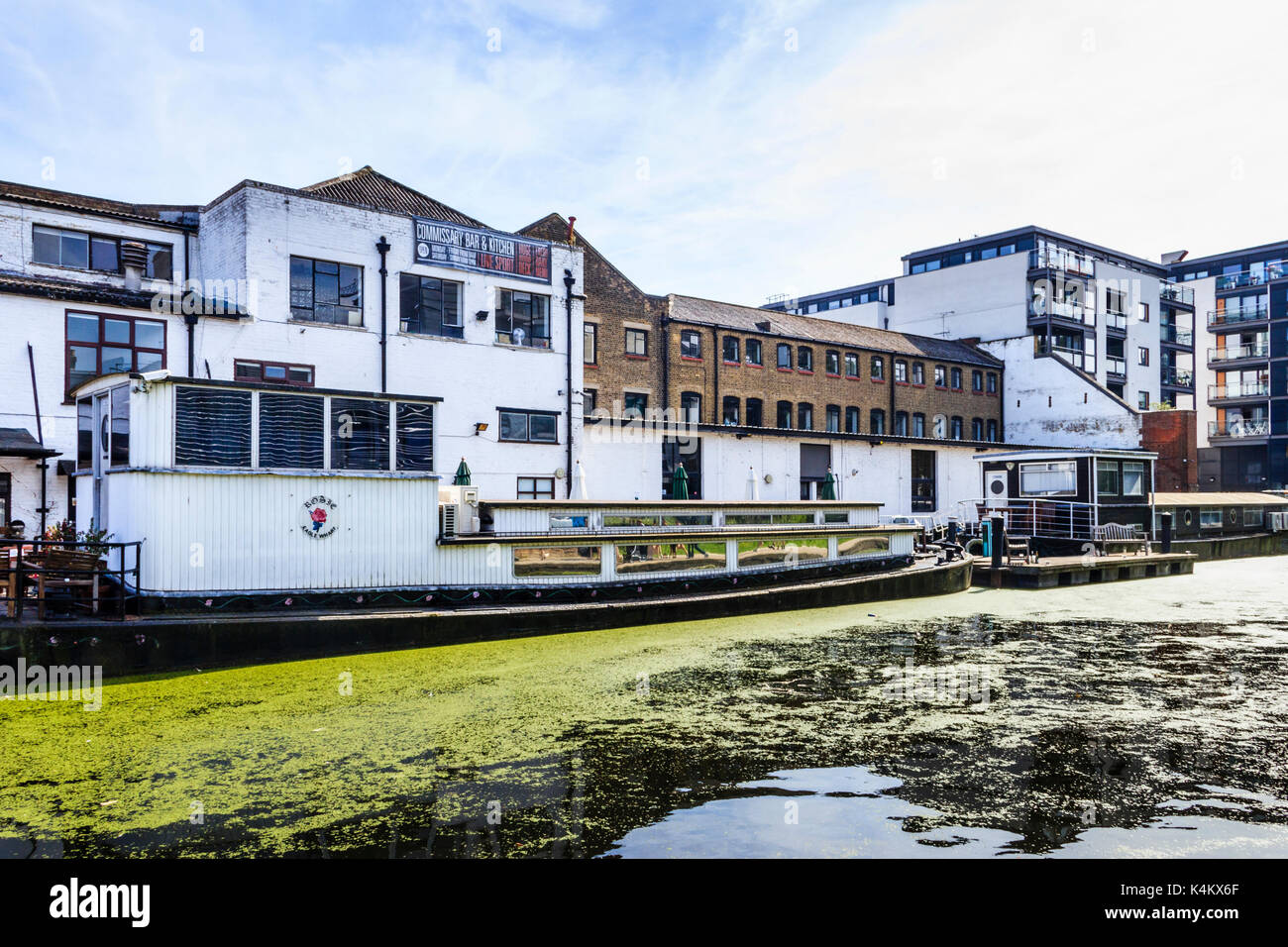 Commissary Bar & Kitchen, Regent's Canal, Islington, London, UK - Stock Image