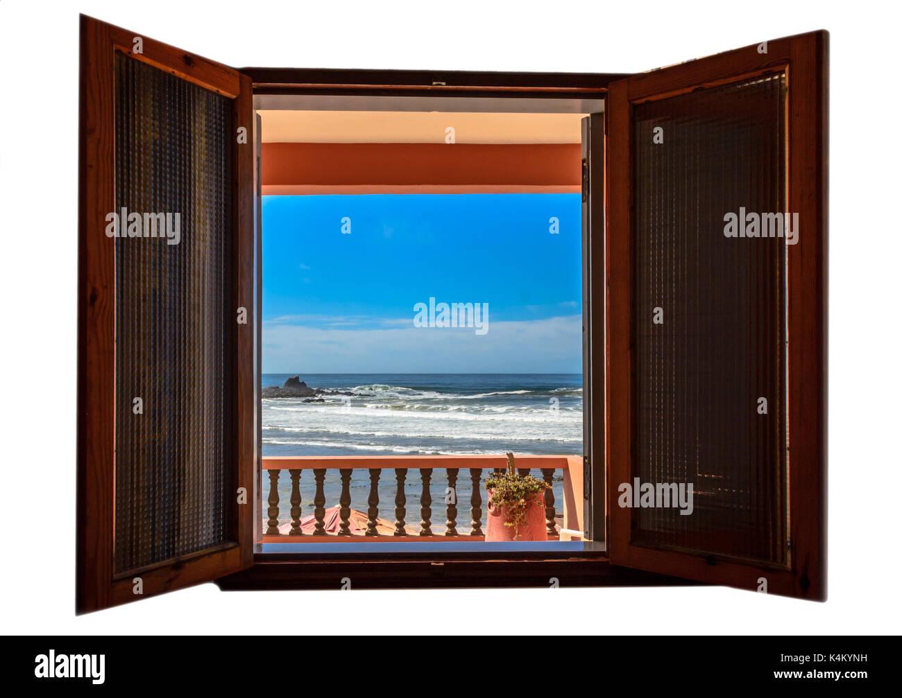 Isolated window - Stock Image
