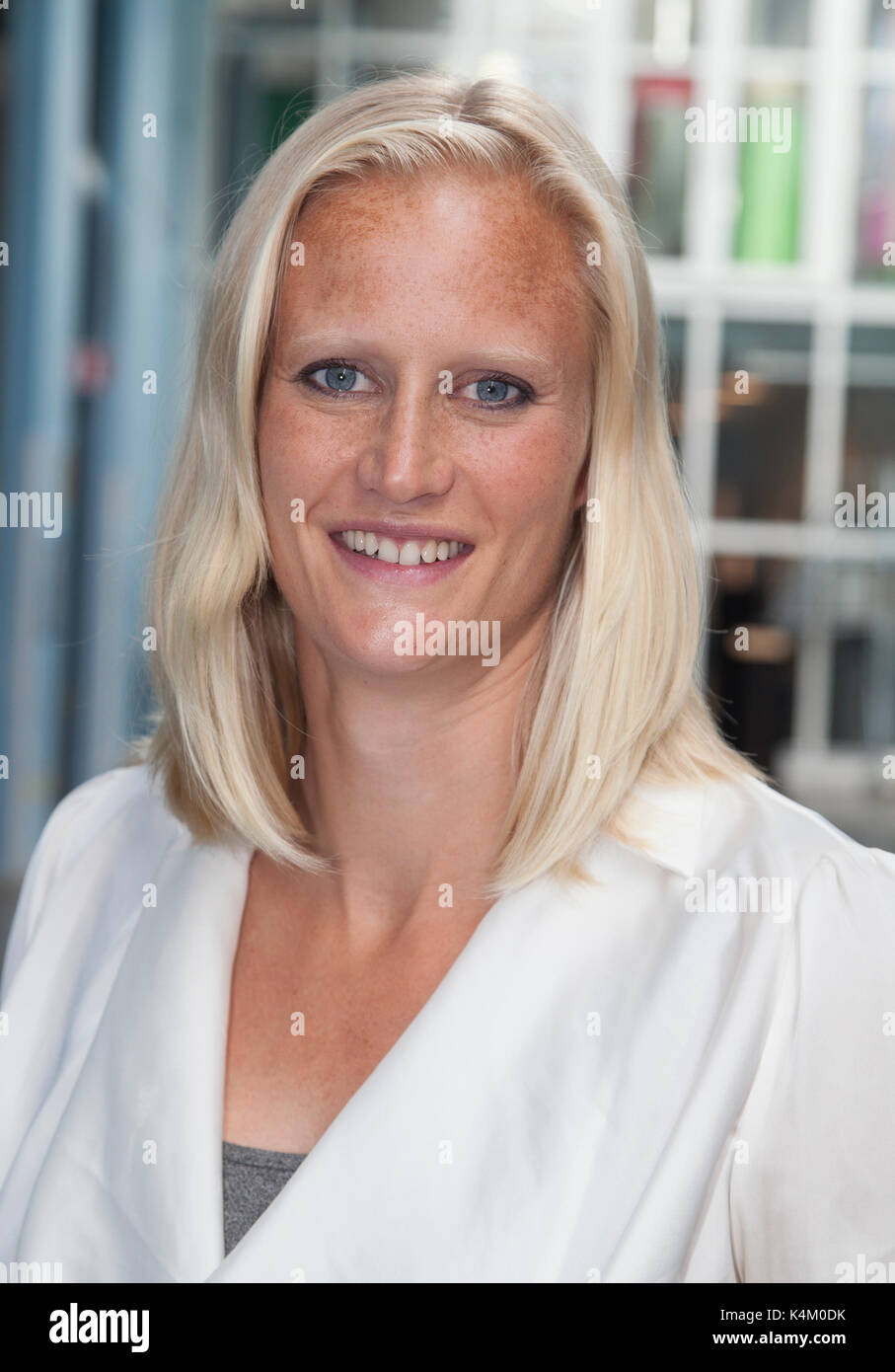 CAROLINA KLÜFT Swedish heptathlon athlete and television host 2017 - Stock Image