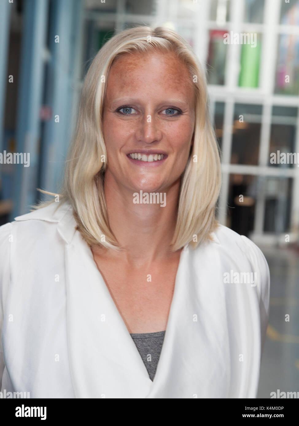 CAROLINA KLÜFT Swedish heptathlon athlete and television host 2017 - Stock Image