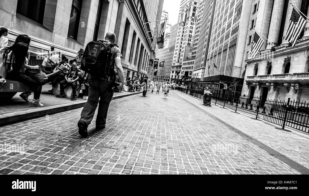 a moment in time on the streets of NYC! - Stock Image