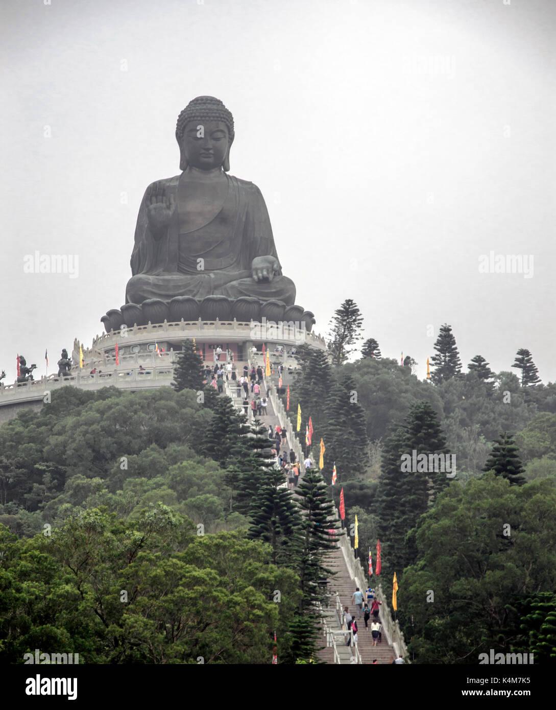 Big Buddha on Lantau island - Stock Image