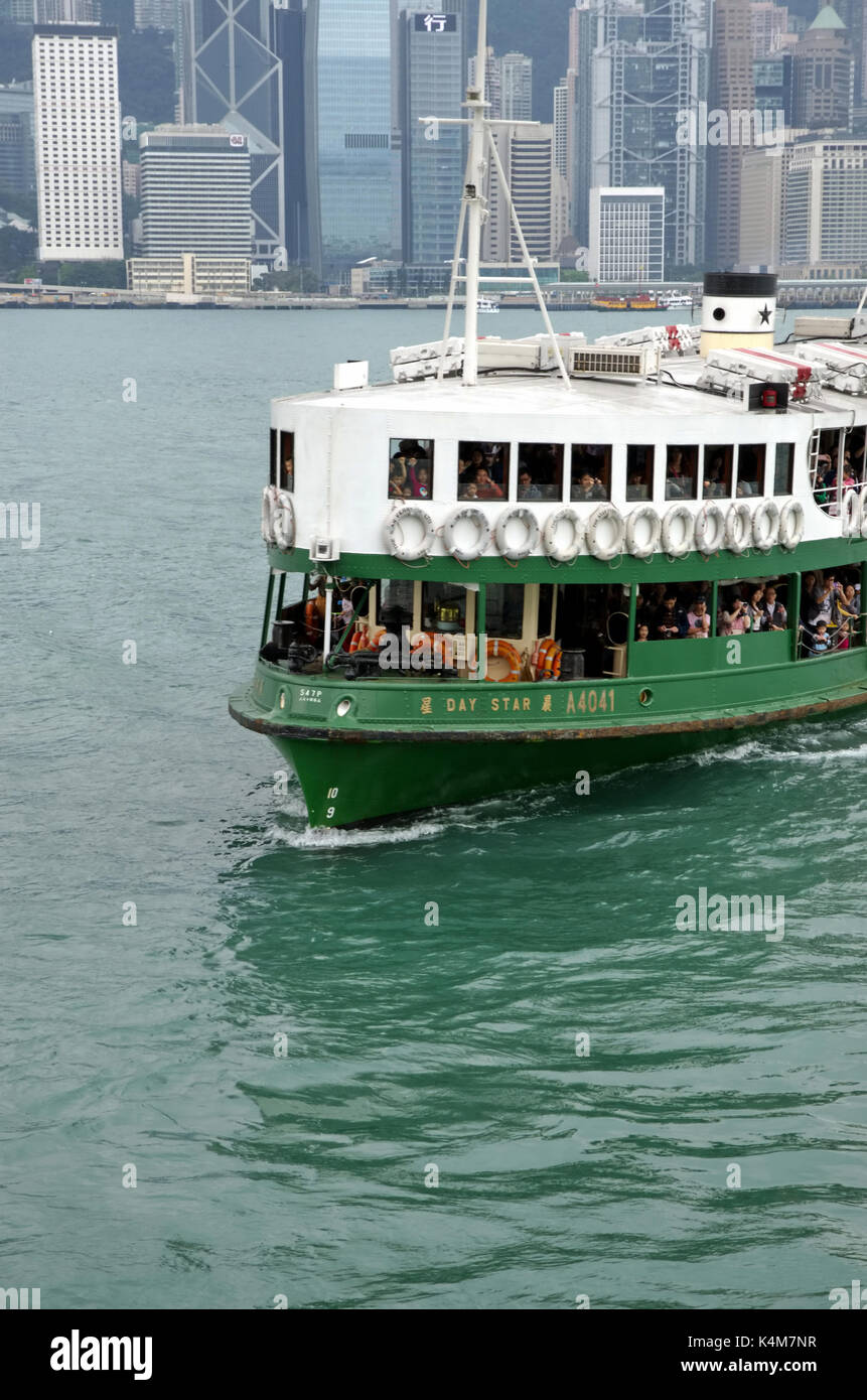 Hong Kong, China - May 04, 2013: Star Ferry in Victoria Habour. Star Ferry have been operating for over 120 years. - Stock Image