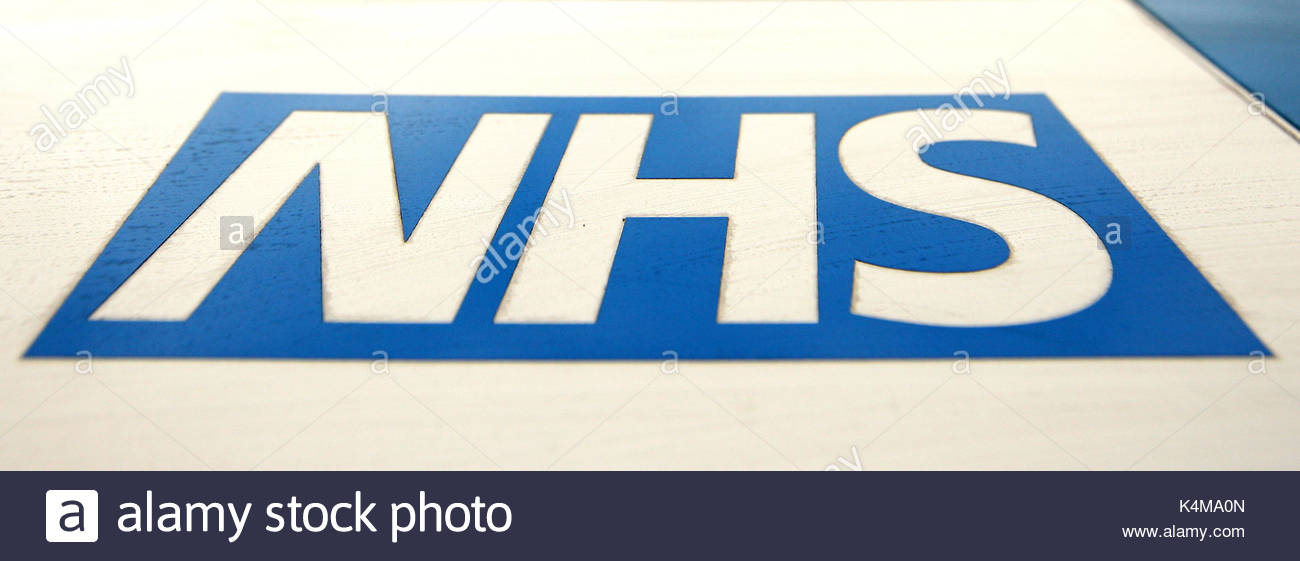 File photo dated 21/05/16 of an NHS logo. Plans to sell off a major NHS staffing agency have been abandoned by the Stock Photo