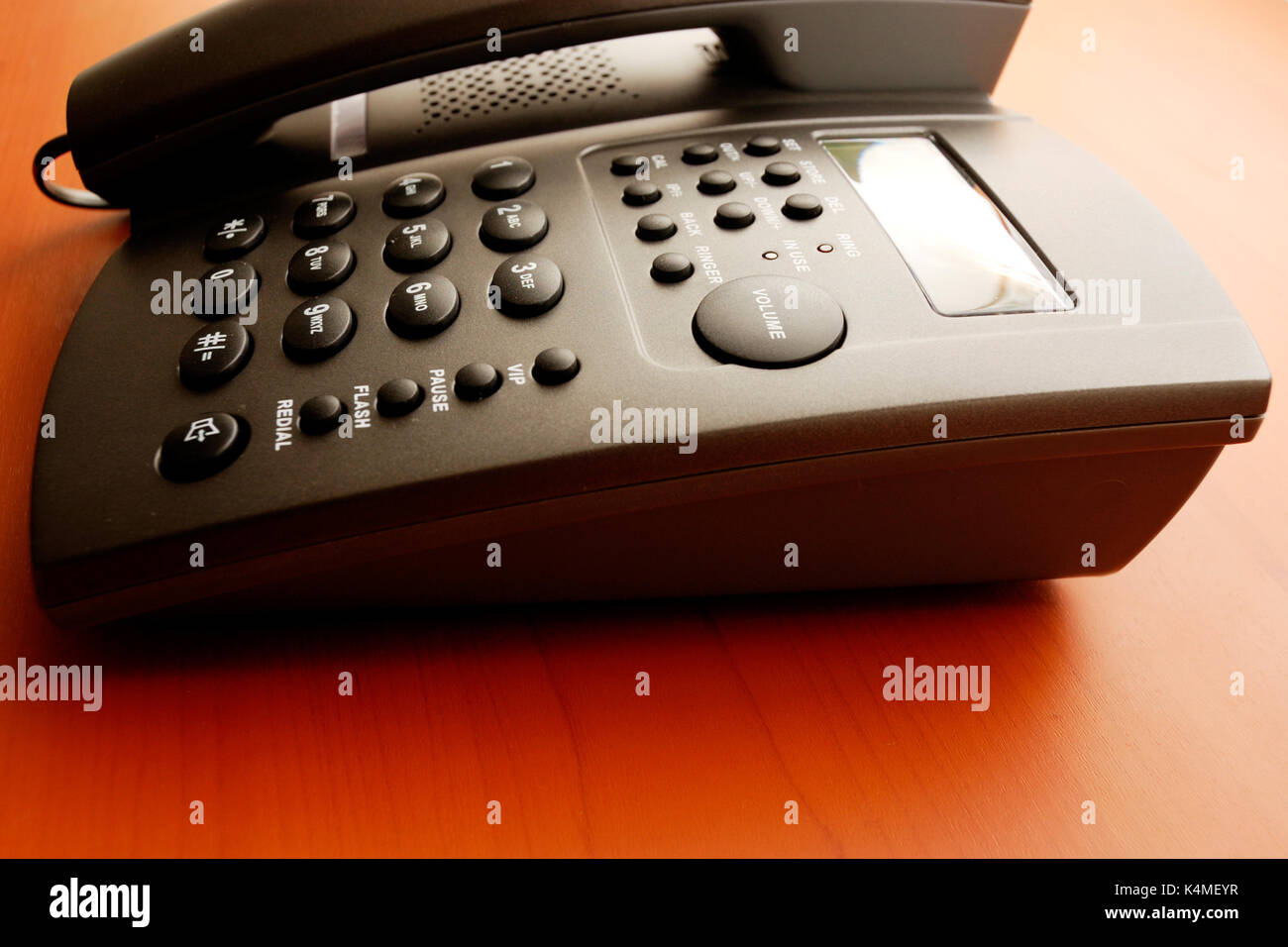 modern desk conference telephone - Stock Image