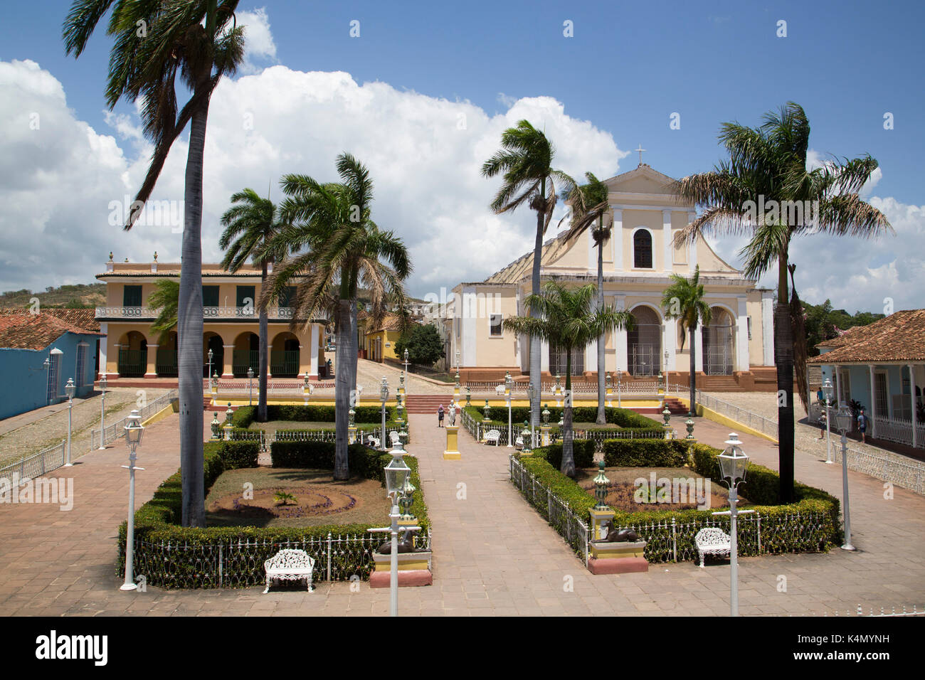 Iglesia Parroquial de la Santisima Trinidad, Plaza Mayor, Trinidad, UNESCO World Heritage Site, Sancti Spiritus, Cuba, West Indies, Central America - Stock Image