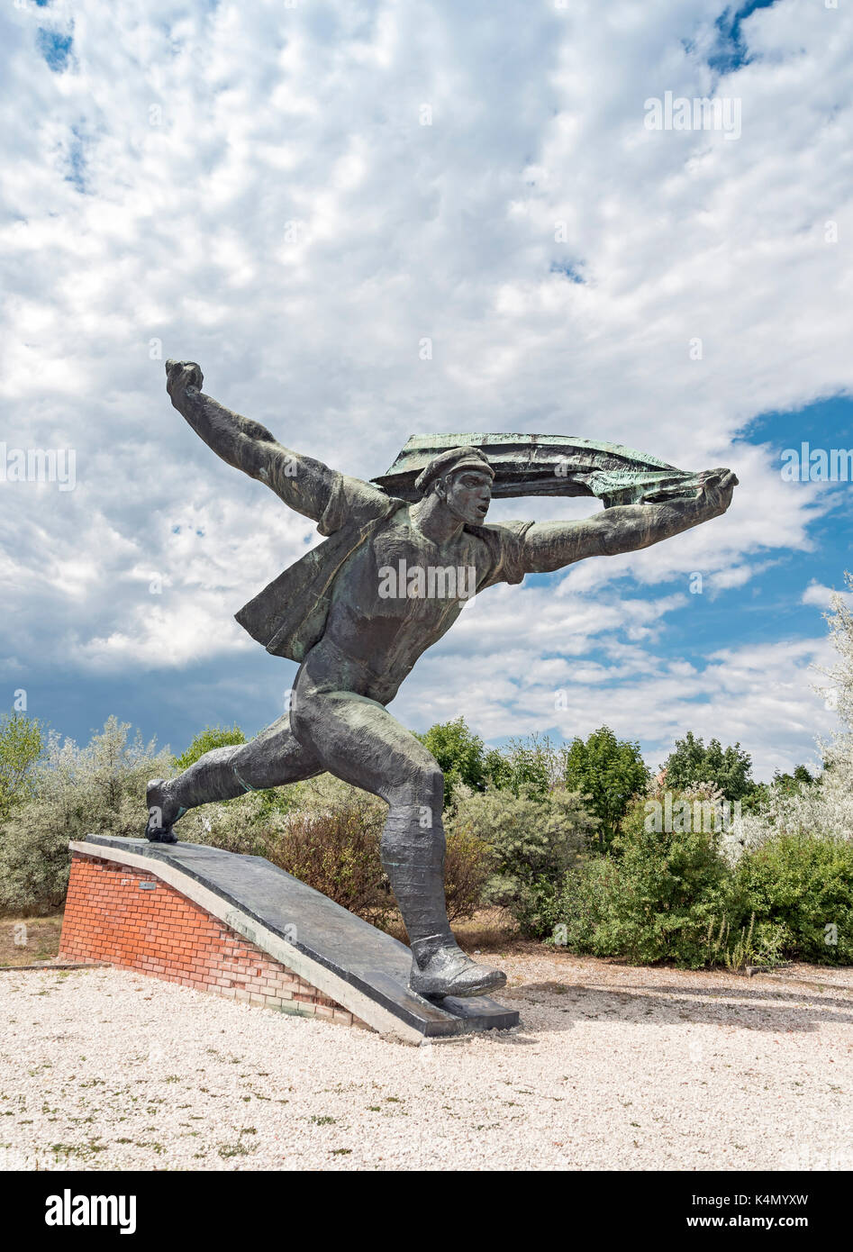 Republic of Councils Monument by Istvan Kiss, StatuePark (Szoborpark), Budapest, Hungary - Stock Image