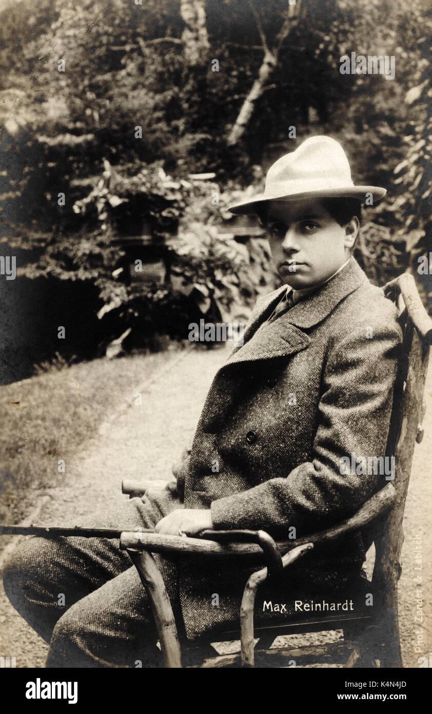 Max REINHARDT,  Austrian-American director and actor.  born in Baden 9 September  1873 - 31 October  1943.  Born as Maximilian Goldmann. - Stock Image