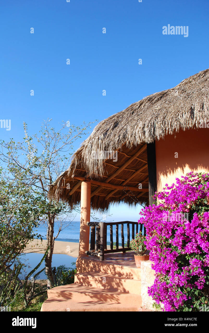 oceanview cabana, Villa del mar, Cabo Corrientes, Mexico - Stock Image