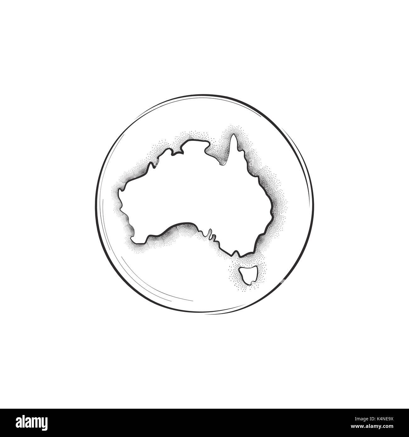 Australia. Retro map sign - Stock Image