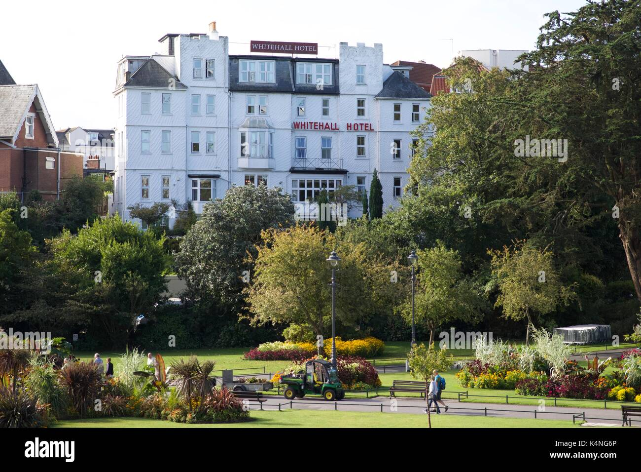 The Whitehall Hotel - Bournemouth - Stock Image
