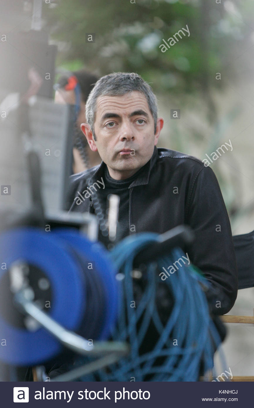 Johnny english 2 stock photos johnny english 2 stock images alamy rowan atkinson aka mr bean filming johnny english 2 on location in solutioingenieria Choice Image