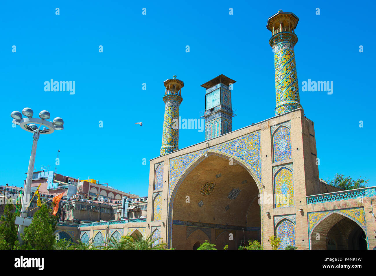 The Shah Mosque, also known as the Imam Khomeini Mosque is a mosque in the Grand Bazaar in Tehran, Iran. - Stock Image