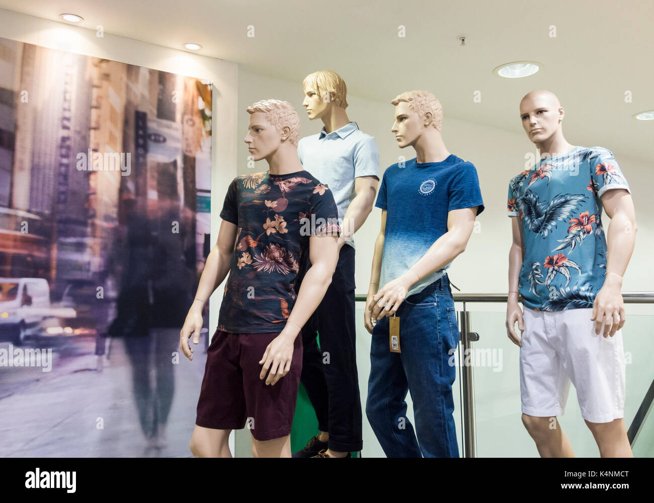 Mens clothing in Next store. UK - Stock Image
