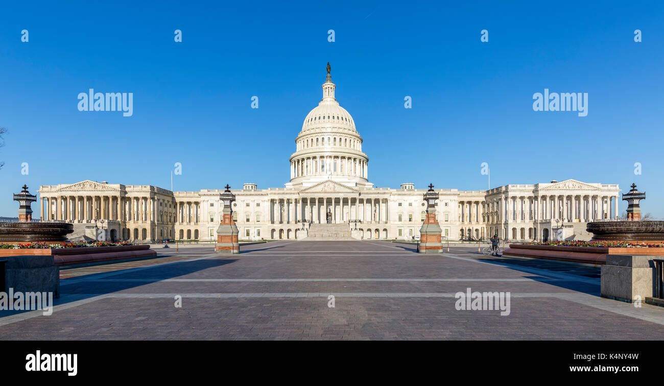 East side of the United States Capitol Building in Washington DC. - Stock Image