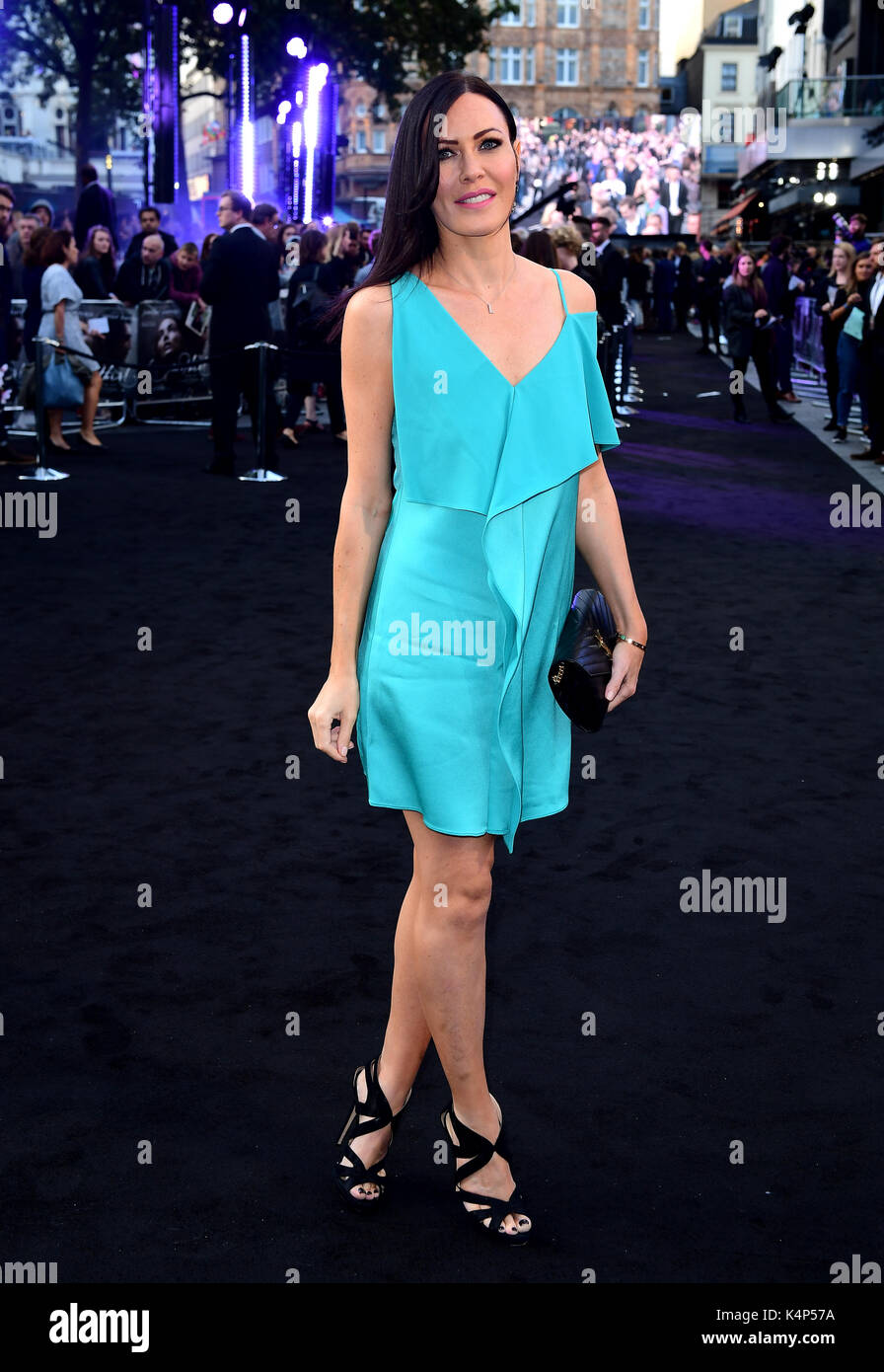 Linzi Stoppard attending the Mother! premiere at the Odeon Cinema, Leicester Square, London. - Stock Image