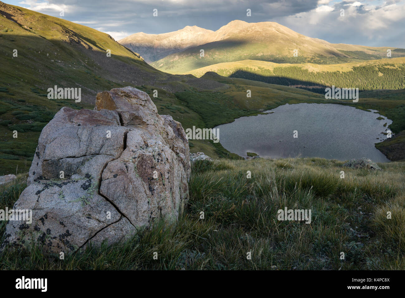 Hiking above Square Top Lakes, from Guanella Pass, Colorado. In ...