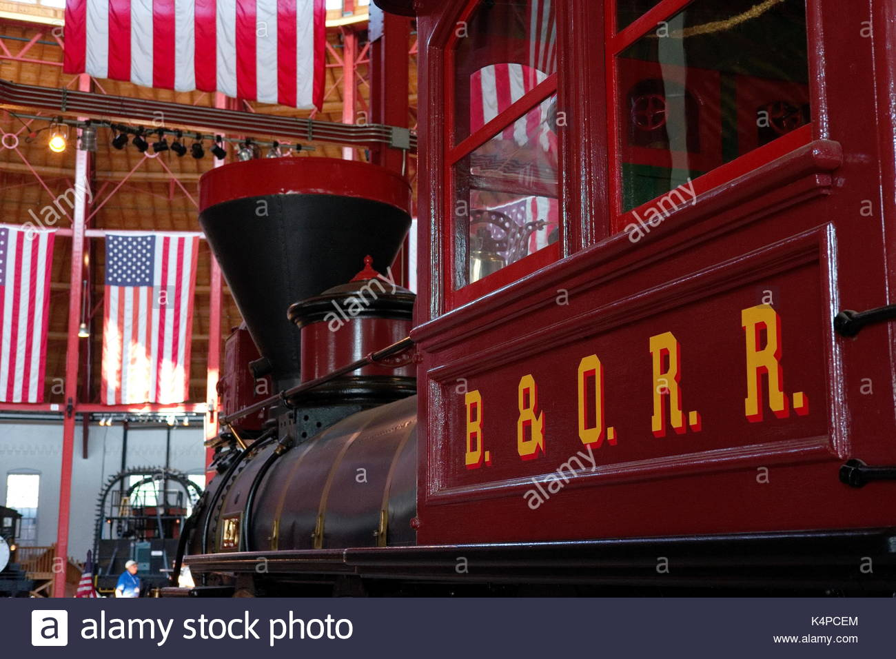 Baltimore & Ohio Railroad No. 600 2-6-0 Mogul steam locomotive on display in the roundhouse of the B&O Railroad Museum, Baltimore, Maryland, USA. - Stock Image