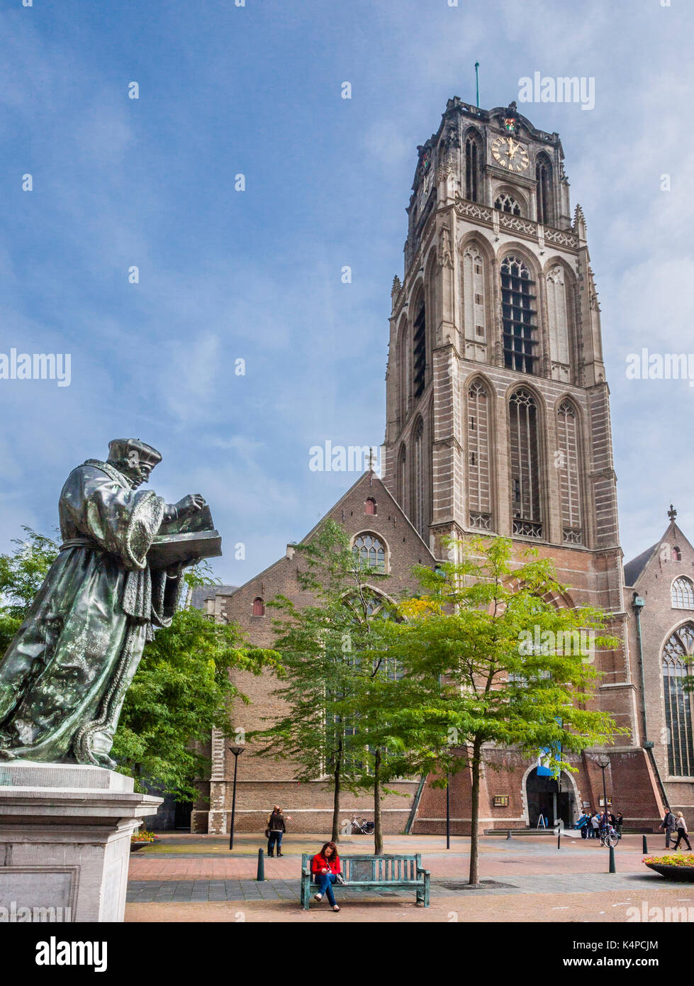 Netherlands, South Holland, Rotterdam, Grote of Sint-Laurenskerk, St. Lawrence Church Stock Photo