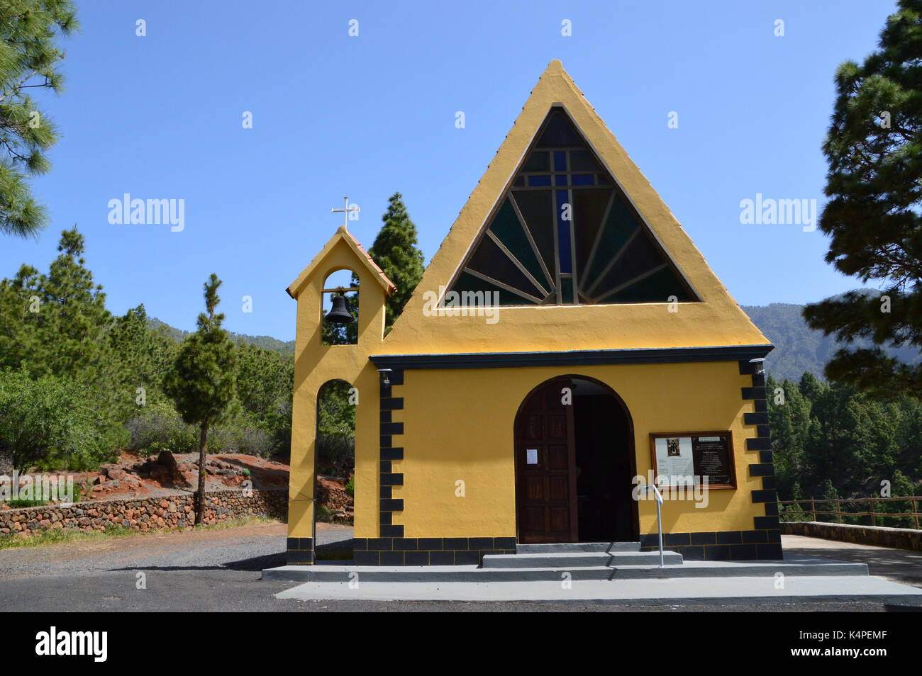 San Martin De Porres Church, La Palma, Canary Islands - Stock Image