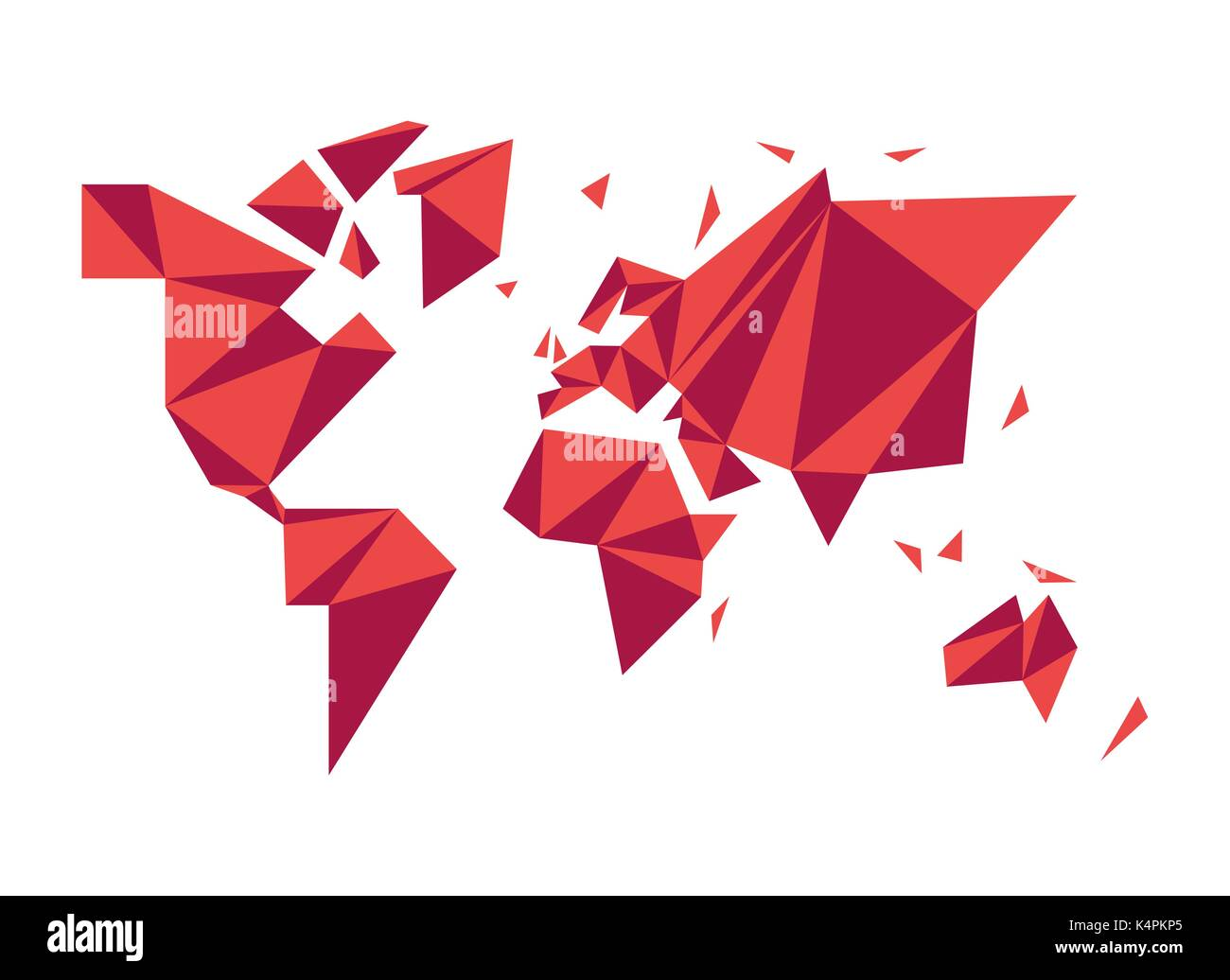 Modern world map illustration template in abstract low poly modern world map illustration template in abstract low poly geometric style simple planet silhouette shape concept design eps10 vector gumiabroncs Gallery