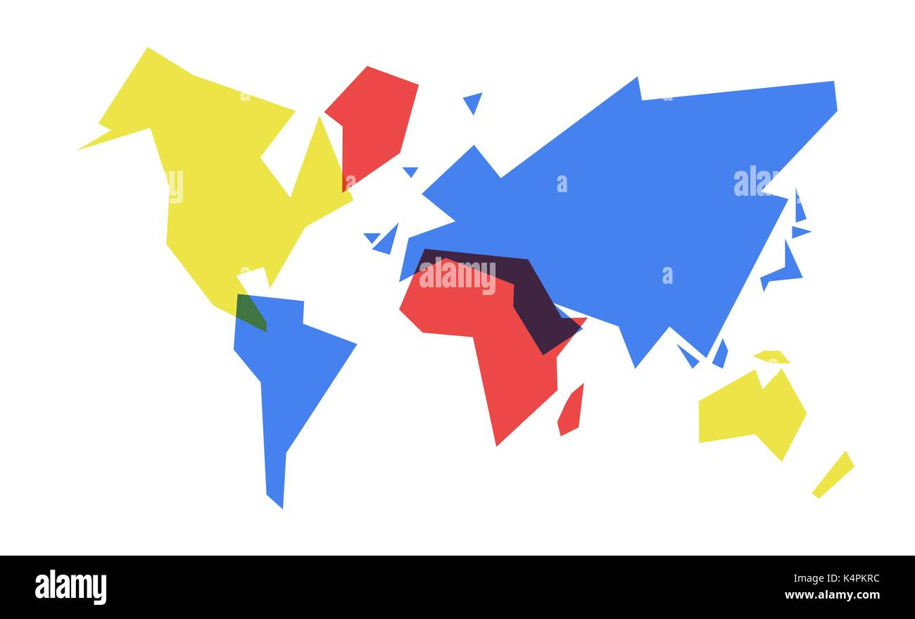 Abstract world map simple concept illustration colorful geometric abstract world map simple concept illustration colorful geometric continent shape design eps10 vector gumiabroncs Images
