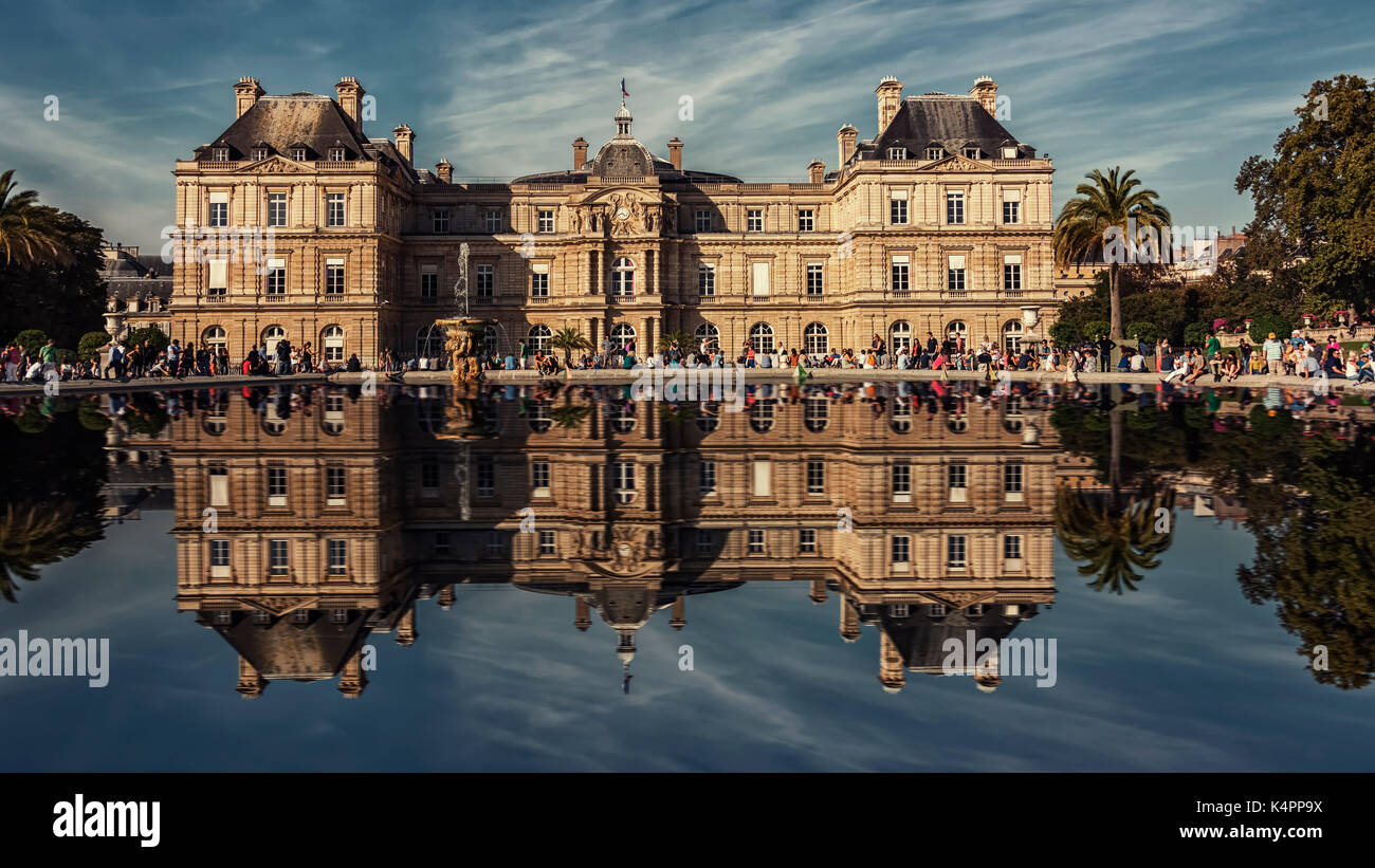 Palais du Luxembourg in Paris Stock Photo