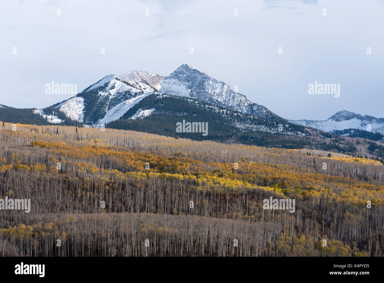 Autumn Storm and Chair Mountain in Gunnison National Forest, Colorado. - Stock Image