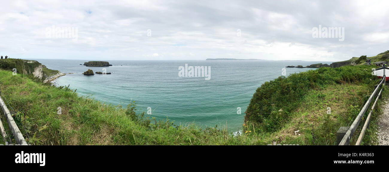 Northern Ireland path to carrick-a-rede - Stock Image