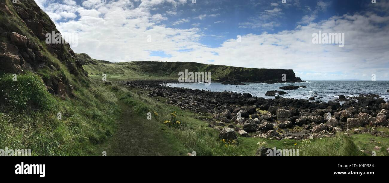 Giant's Causeway in Norther Ireland, Europe - Stock Image