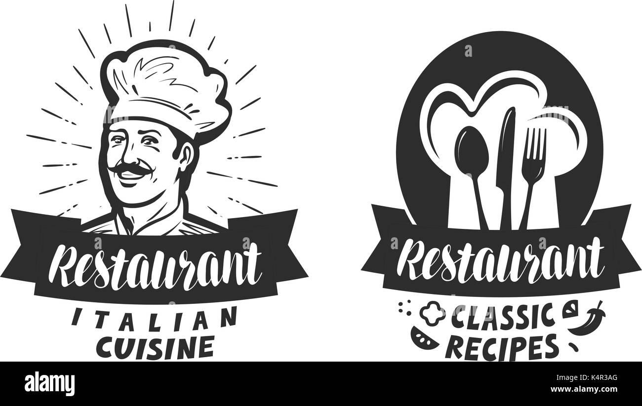 Restaurant Logo Eatery Diner Bistro Label Lettering Vector Stock Vector Image Art Alamy