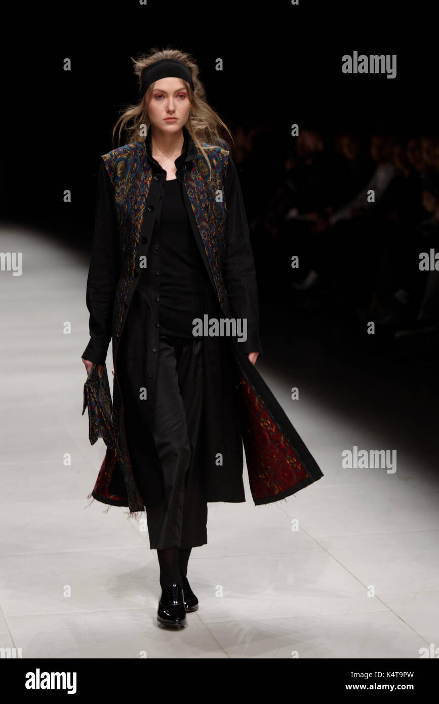 Collection of Ianis Chamalidy at the fashion show during Mercedes-Benz Fashion Day St. Petersburg - Stock Image