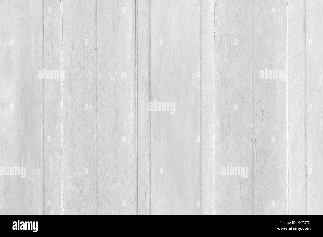 Vintage surface white wood table and rustic grain texture background. Close up of dark rustic wall made of old wood table planks texture. Rustic wood  - Stock Image
