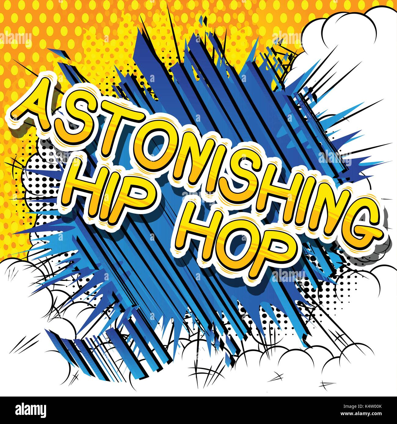 Astonishing Hip Hop - Comic book word on abstract background. Stock Vector