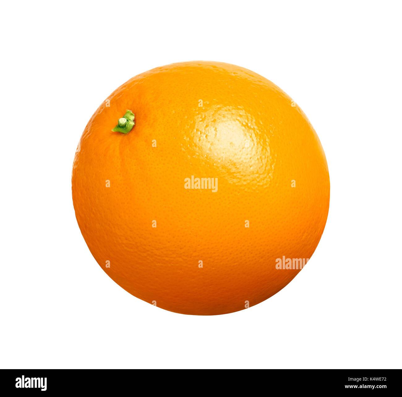 Oranges isolated on white background - Stock Image