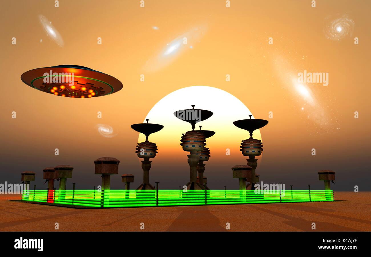 Alien Listening Outpost. - Stock Image