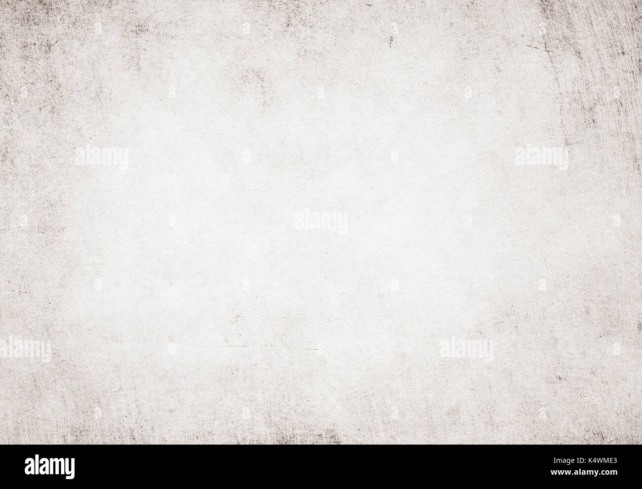 Light grunge white recycled parchment paper texture. - Stock Image
