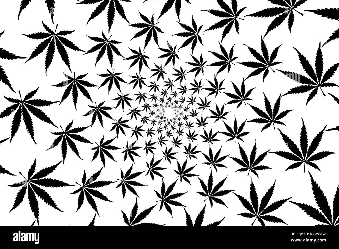 Black Marijuana Leaves Vector Pattern Cannabis Plant Background Stock Vector Image Art Alamy