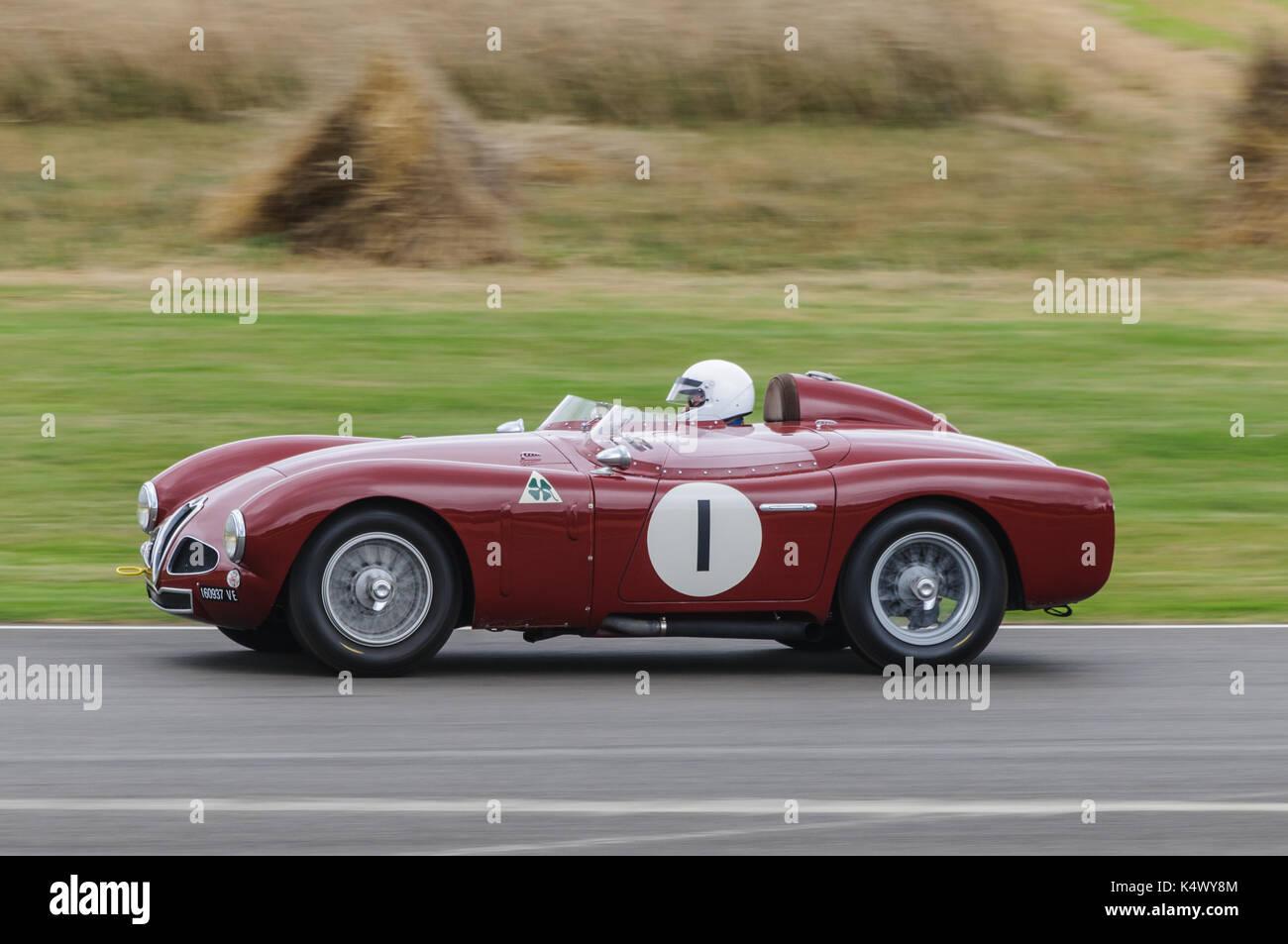 Classic Alfa Romeo at Goodwood Revival - Stock Image